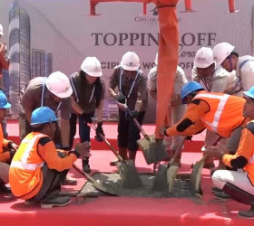 Ikut Cegah Penyebaran Covid-19, Topping Off Ceremony Ciputra World Office, VieLoft Next Level SOHO, & Sky Residence Digelar Secara Internal