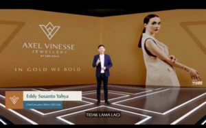 Acara virtual launching Axel Vinesse In Gold We Bold by UBS Gold